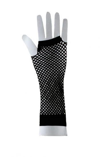 Fingerlose Gothic Handschuhe schwarz