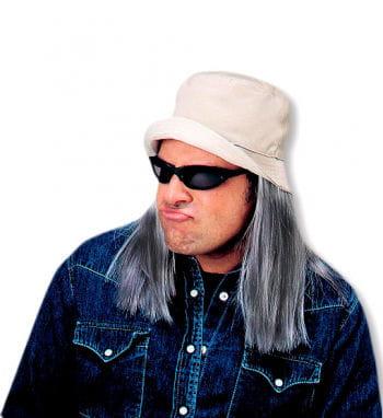 Fischerhut mit grau meliertem Haar