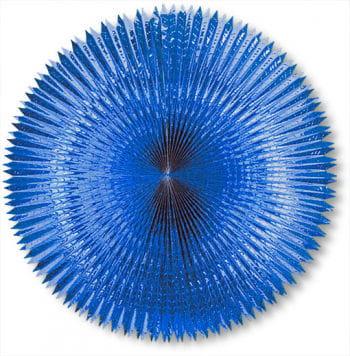 Faltfächer Metallfolie Blau 120 cm
