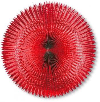 Faltfächer Metallfolie Rot 90 cm
