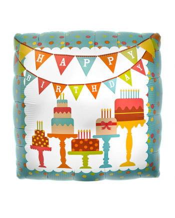 Foil balloon Happy Birthday Cake