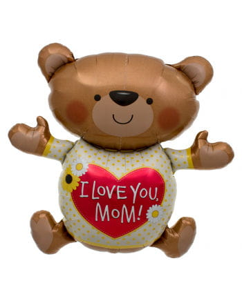 I Love You Mum Teddybär Folienballon