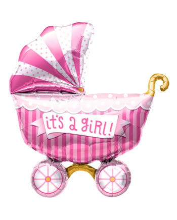 Folienballon Kinderwagen - It´s a Girl -
