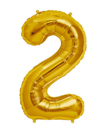 Gold Foil Balloon Number 2