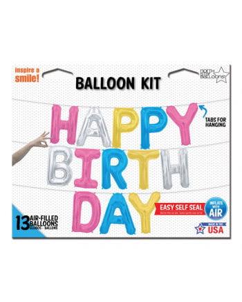 Happy Birthday Buchstaben Folienballons