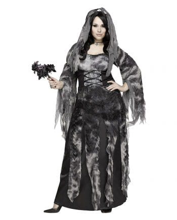 Graveyard Bride PLUS SIZE Halloween costume with veil