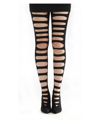 Tights with holes black