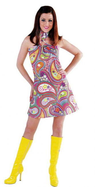Funky Colors Hippie Dress