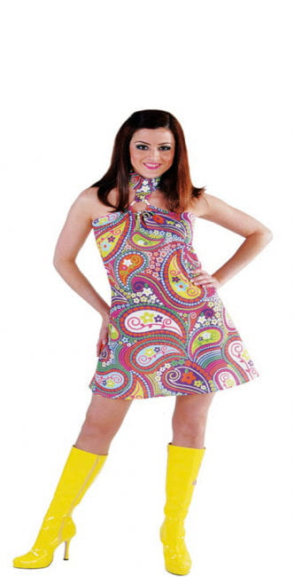 Funky Colors Hippie dress XL