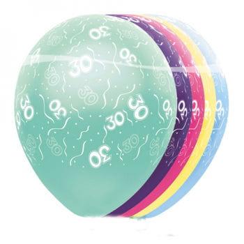 Geburtstag Latex Ballons 30