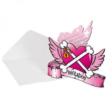Pirate Girl Invitation Cards