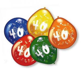 40th Birthday Balloons 10 PCS