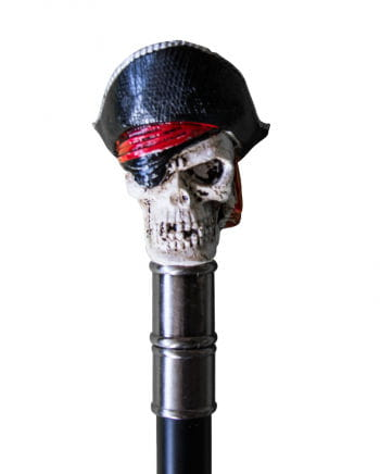 Walking stick with pirate skull