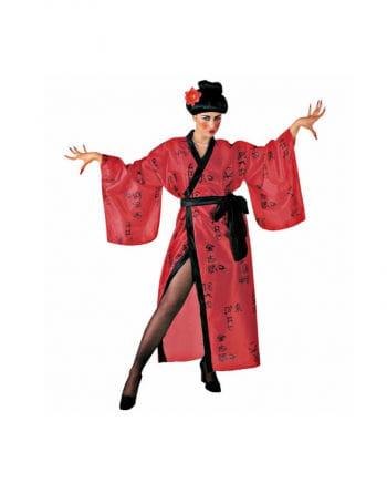 Japanerin Kimono in Rot
