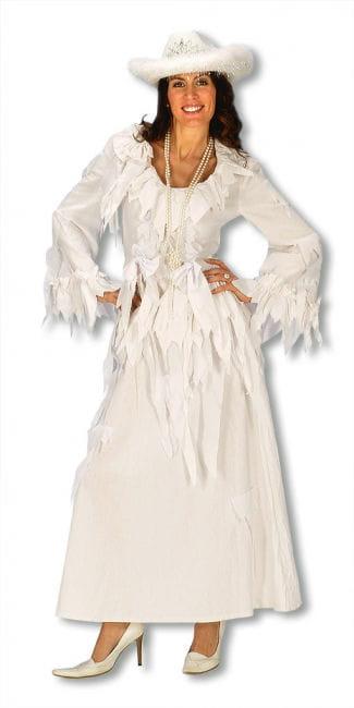 Gespensterfrau Kleid weiß Gr. S/M