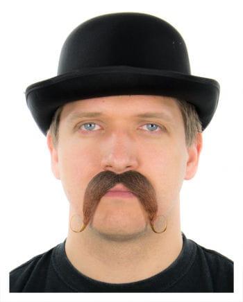 Gentleman Schnauzbart braun