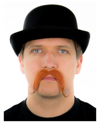 Ruffled tradable mustache red