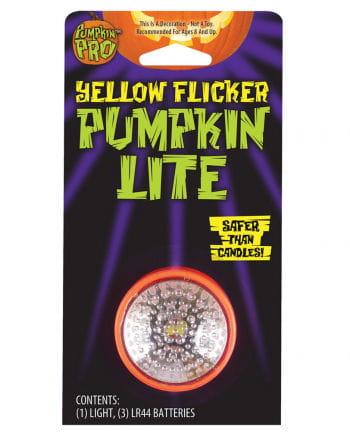 Flickering light yellow pumpkin