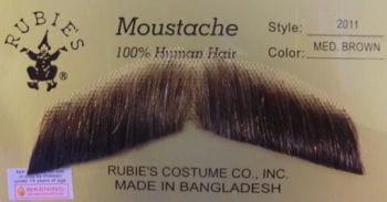 Gentleman Moustache Brown