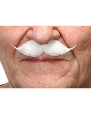 Weißer Gentleman Schnurrbart
