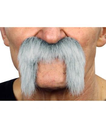 Adhesive biker mustache ash-white