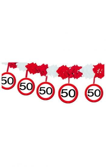 Verkehrsschild Girlande 50