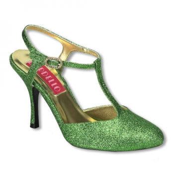 Glitzer Pumps grün