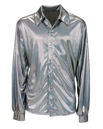 Glitter Disco Shirt Silver