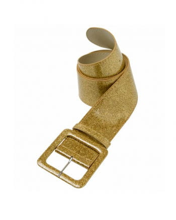 Glitter belt with gold glitter