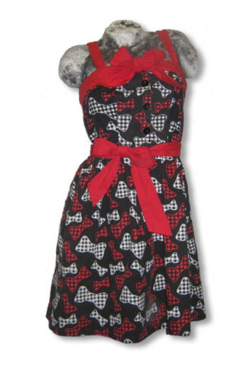 Rockabilly Dress with Bow Print