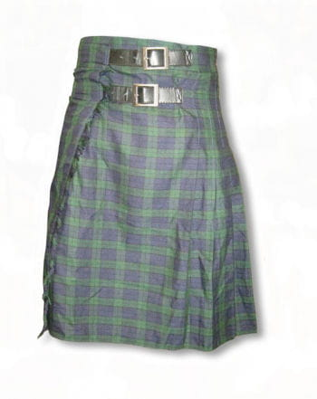 Green-blue plaid kilt