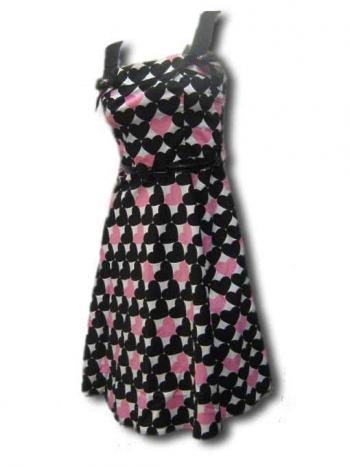 50s Heart Dress pink XS