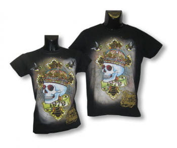 Unisex Shirt Skull Crown