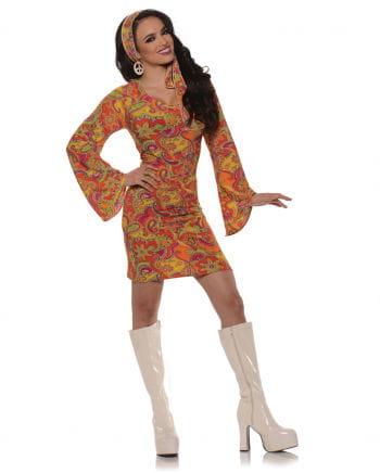 GoGo Hippie Mini Dress Orange Small
