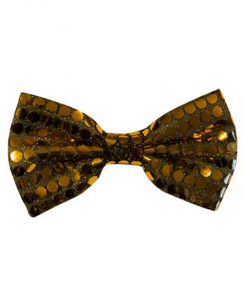 Sequined bow gold
