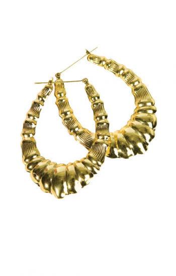 Golden Hip Hop Earrings