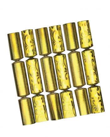 6er Set goldglänzende Knallbonbons