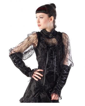 Gothic Spitzenbluse schwarz