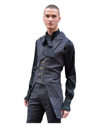 Gothic Brocade Men Vest Black