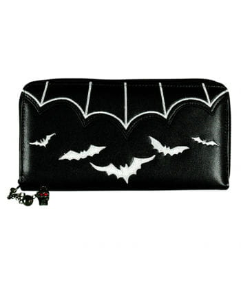 Gothic wallet with black bats