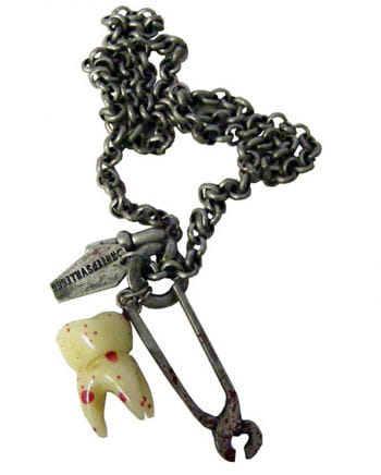 Gothic Necklace Breaking Teeth