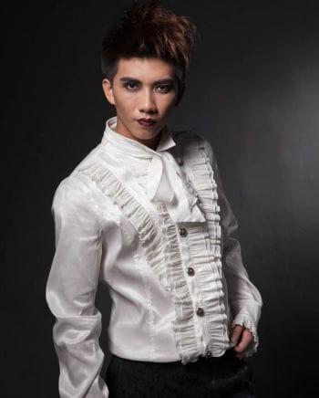 Gothic Rüschenhemd weiß