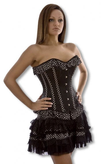 Gothic Miniskirt with Polka Dots