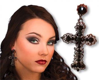 Gothic Earrings Cross