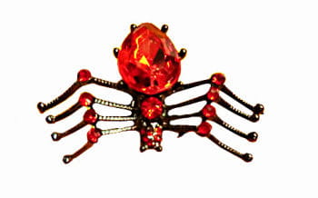 Gothic Ring Spider Red