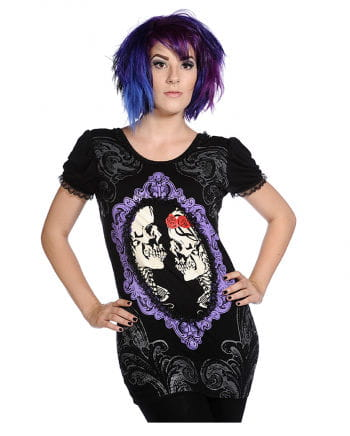Gothic Cameo Shirt violett