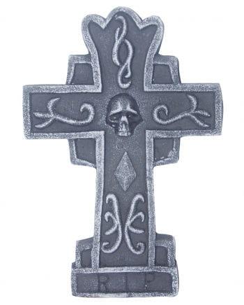 Grabmal Kreuz mit Totenkopf 36 cm