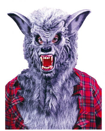 Graue Werwolf Maske mit Zähnen