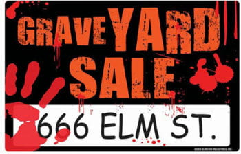 Grave Yard Sale sign