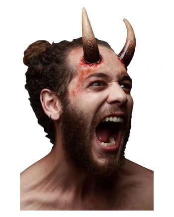 Dark Devil Hörner Latexapplikation